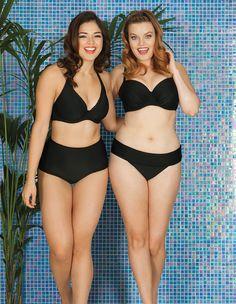 0c086b7e6ec Curvy Kate Jetty Padded Balconette/Halter Bikini Top Black Black Bikini Tops,  Zaftig,