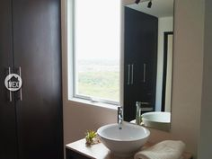 A master bathroom with a view. Amara Cancún; Cancun real estate