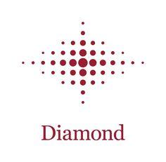 Diamond Logo : Classic Baseball Tournament Logo, Navy Blue Diamond ...