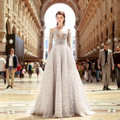 Filled with unconventional silhouettes, whimsical textures and playful layering, Gemy Maalouf's 2017 wedding dress collection is for the bride who loves romance