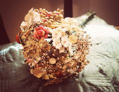another vintage brooch bouquet via hula gypsy