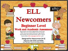 Newcomers arrive throughout the school year. Often they are academically and linguistically behind their ESL and General Ed. peers. It can be frustrating for both the teacher and student.  This product gives you everything you will need to help your newcomer ELL student get acclimated to their new environment. Beginner level seat work and an academic assessment  are provided.