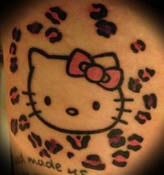 My sister in law would love this hello kitty tattoo :)