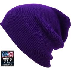 Thick Beanie Skully Slouchy Cuff Winter Hat Made in USA ($6) ❤ liked on Polyvore featuring jewelry, bracelets, cuff jewelry and cuff bangle