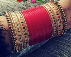 Chuda bangles and kalira Bridal Bangles, Bridal Jewelry Sets, Bridal Accessories, Bridal Jewellery, Chuda Bangles, Wedding Chura, Silver Bracelet For Girls, Bridal Chuda, Indian Wedding Jewelry
