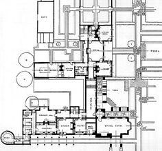 Plan at Folly Farm - E.L. Lutyens, Architect