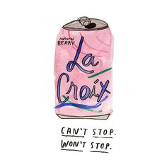 """""""An ode to my wife @turshen 's favorite drink of the summer, illustration by @katebingburt from a story about La Croix cocktails : http://gizmodo.com/9-cocktails-made-with-lacroix-a-sparkling-water-with-a-1718567132 #lacroix"""" Photo taken by @designsponge on Instagram, pinned via the InstaPin iOS App! http://www.instapinapp.com (07/21/2015)"""