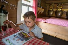 A 14 year old boy runs a farm alone high up in the Alps: http://niceartlife.com/a-14-year-old-boy-runs-a-farm-alone-high-up-in-the-alps/