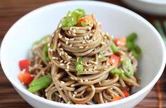 Cold Sesame Noodles - Jeanette's Healthy Living #picnic #potluck #BBQ