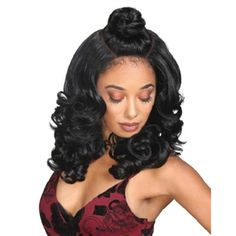 Stylish and trendy hair styles, hair products, wigs, weaves, braids, half wigs, full cap, hair, lace front, hair extension, Brazilian hair, crochet, hairdo, Lace Front Wigs, Remy Hair, Zury Sis Beyond Synthetic Hair Moon Part Lace Wig - BYD MP Lace H KENZIE