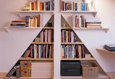 Geometric forms to storage books.