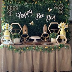Bee Impressed Events's Birthday / Happy First Bee Day - Lilias First Bee Day Party at Catch My Party 1st Birthday Party For Girls, 1st Birthday Themes, Birthday Ideas, Minions, Bee Party, Just In Case, First Birthdays, Bee Theme, Gender Reveal