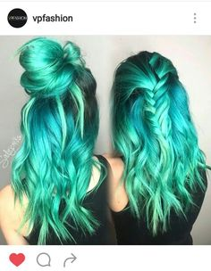 Beautiful turquoise hair.