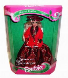 Barbie Doll Merry Christmas Seasons Greetings Exclusive NRFB #Mattel #Dolls