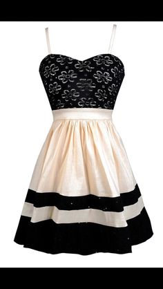 Black and Cream Lace Dress, Cute Black and Beige Dress, Black and Beige Party Dress, Black and Cream A-Line Dress, Black and Beige Summer Dress Beige Party Dresses, Casual Dresses, Short Dresses, Dress Outfits, Summer Dresses, Formal Dresses, Dress Party, Lace A Line Dress, Dress Up