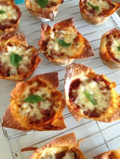 LASAGNA CUPCAKES!! This is MY picture. Use wonton wrappers, put in muffins times fill with sauce and veggie meat (or real meat) mixture, ricotta cheese then more sauce and cheese. SOOO GOOD!