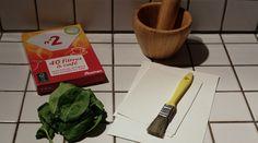 Faire une tirage avec des feuilles d'épinard ?