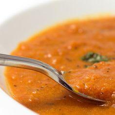 HCG Diet (P2/3) Fire Roasted Tomato Soup Hcg Soup, Hcg Diet Recipes, Soup Recipes, Hcg Meals, Tomato Basil Soup, Leftovers Recipes, Roasted Tomato Sauce, Fire Roasted Tomatoes, Vegetable Soup With Chicken