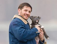 tom hardy and his pibbles co-star...and i know for a fact that in real-life he adopted a pit named cass