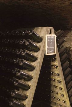 #BerlucchiMood: cellars, wine bottles, wine racks. Berlucchi Winery, Franciacorta, Italy.  To book a visit: http://www.berlucchi.it/live-en/foglia-news/guided-tour-with-tasting-in-franciacorta
