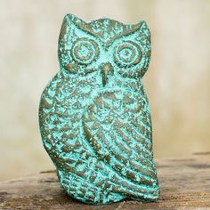 NOVICA Green Gold Owl Recycled Paper Wall Sculpture from Thailand ($30) ❤ liked on Polyvore