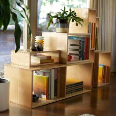 Mix Boxes Maple by Eric Pfeiffer Box Shelves, Storage Shelves, Storage Boxes, Decore Sua Casa, Box Design, Shelf Design, House Design, Doterra, Book Storage