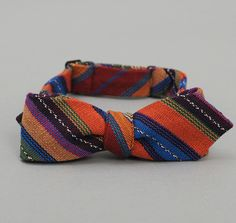 Guatemalan hand-woven bowtie by the Hillside