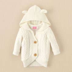 newborn - girls - cable-knit cardigan | Children's Clothing | Kids Clothes | The Children's Place