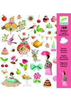 Djeco Stickers: thee drinken met prinsessen