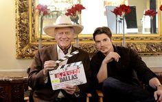 Dallas TV Show   Larry Hagman & Josh Henderson - Dallas Tv Show Photo (33955901 ...