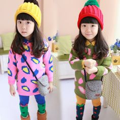Princess 2013 children's clothing female child autumn pattern knitted child sweater baby pullover sweater-inSweaters from Apparel & Accessor...