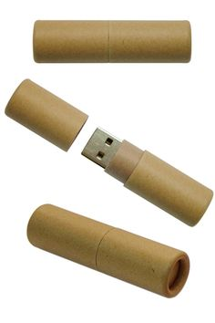 Recycled Paper Cylinder Style USB Flash Drive (DC-M80): 758958    The cylinder style body of this USB drive is constructed from recycled paper making it an eco-friendly, green product.