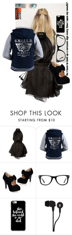 """""""Emergency Landing"""" by frootloop16 ❤ liked on Polyvore featuring Brandon Maxwell, Muse, Theory, Caso and Skullcandy"""