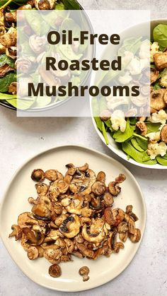 Oil-Free Roasted Mushrooms add umami flavor to salads, pasta, rice, or other savory meals. This oil-free, plant-based dish comes together in 15 minutes! #mushrooms #mushroomrecipes #oilfreemushrooms #meatlessmonday #meatless #meatlessmeals #nomeat #vegan #glutenfree #oilfree #sugarfree #plantbased #oilfreevegan #sugarfreevegan #glutenfreevegan #wfpb #forksoverknives #catholic #catholiclife #theplantbasedcatholic Vegan Cheese Recipes, Vegan Breakfast Recipes, Delicious Vegan Recipes, Lunch Recipes, Whole Food Recipes, Diet Recipes, Plant Based Eating, Plant Based Diet, Plant Based Recipes
