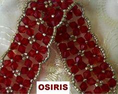 bicone bracelet pattern/ tutorial Brazalete Osiris de Bellezas e Inspiraciones