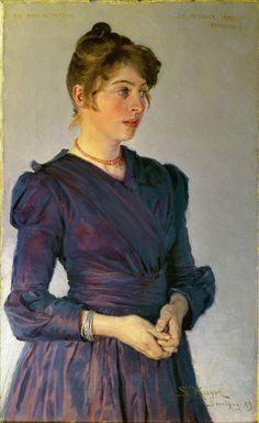 "Peder Severin Krøyer (1851–1909) ""Portrait of Marie Krøyer"", 1889"