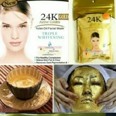 2pk 24K Facial Powder Mask   Gold Lip Mask Kit AntiAging Spa Treatment Kit  Replenishes energy into your skin and boost luster. Makes skin moist, clearer and tender instead of dull.  Deliver essences into deep skin gold power  and moisturize skin. Promotes  microcirculation, decompose and remove blemishe Balance oil , water,  keeps skin younger, lustrous and firm. Included: 1 24K Gold Power Package  50 Bamboo Fiber Mask 1 Mixing Bowl/Stick. 1 Powder Brush 1 Gold Collagen Lip Repair, Removes…