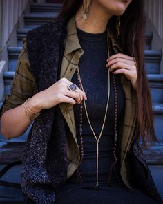 Effortless chic #layers #accessories #jewelry #ambiancesf #herstyle