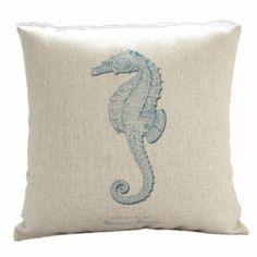 Amazon.com - MagicPieces Cotton and Flax Ocean Park Theme Decorative Pillow Cover Case C #ocean #beach #sea #print #blue #Voyage #pillow #homedecor #pillow $16.99