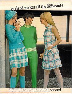 Garland Clothing ad in Seventeen Magazine, 1967.