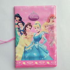 Pink Cartoon The princess 3D Travel Passport Cover for girls 14*9.6CM PVC leather passport holder Credit Card Holder
