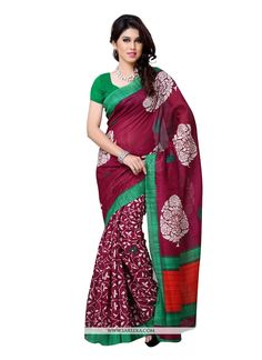 Make the heads flip whenever you costume up in this kind of a lovely multi colour art silk casual saree. The incredible attire creates a dramatic canvas with astounding print work. Comes with matching...