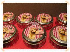 Souvenirs Personalizados, latas personalizadas. Souvenirs personalizados Rapunzel. chiru.souvenirs@hotmail.com