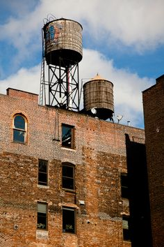 Water Towers, Grand and West Broadway, New York, New York, by James Maher Photography