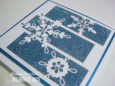 Outside the Box :Snowflake Spectacle Here is a close-up of the glitter and the die: