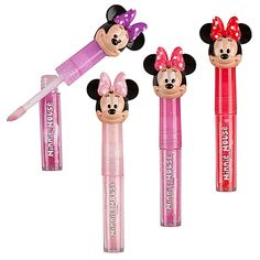 Bow Minnie Mouse Lip Gloss Set -- Cute stocking stuffer idea for little girls. Christmas Gift Box, Kids Christmas, Christmas 2015, Christmas Beanie Boos, Disney Frozen Nails, Minnie Mouse Toys, Kids Toys For Boys, Cute Stockings, Kids Makeup