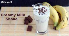 Creamy Milk Shake Flavored Milk, Milkshake, Acai Bowl, Pudding, Breakfast, Desserts, Food, Acai Berry Bowl, Morning Coffee