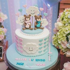 trendy ideas for baby shower table snacks gender reveal Baby Cakes, Baby Shower Cakes, Baby Reveal Cakes, Baby Shower Table, Baby Shower Parties, Gender Reveal Balloons, Baby Gender Reveal Party, Baby Shower Mixto, Twin Birthday Cakes