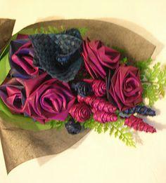 Flax Tea Roses© Flax Bouquets©2016 - Flax flower arrangements - Flax Wedding Bouquets - Te Reo Buntings & Ring Pillows Aotearoa NZ Maori - weaving