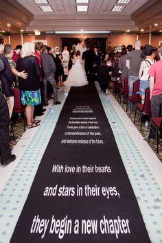 Star Wars aisle runner geek wedding